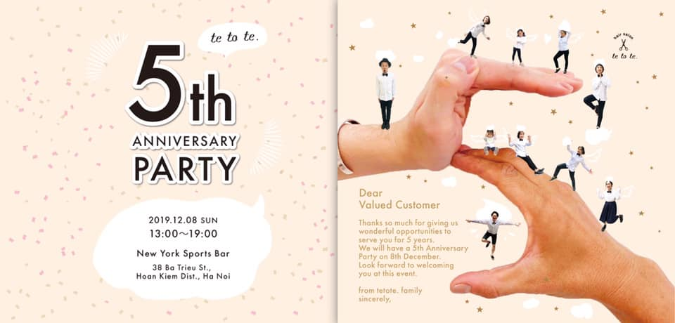 """hair salon tetote. 5th anniversary party‼︎"""